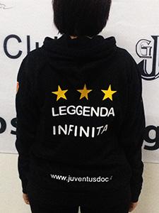 Juventus DOC Alex Del Piero –  Felpa DOC ufficiale 2015