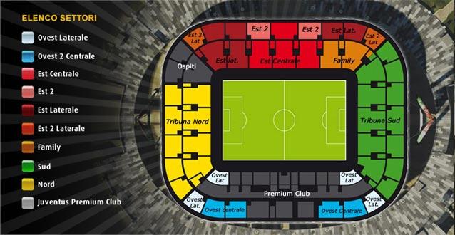 Juventus OFC Alex Del Piero - Piantina del Nuovo Stadio della Juventus