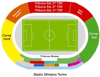 Juventus DOC Alex Del Piero - Piantina dello stadio Olimpico di Torino