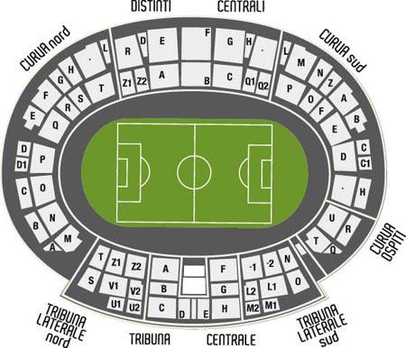 Juventus DOC Alex Del Piero - Piantina dello Stadio Friuli di Udine